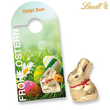 Lindt Goldhase Promotion-Card Türanhänger