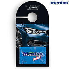 Promotion-Card Anhänger mentos Mint 2er