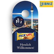Promotion-Card Anhänger Leibniz Pick Up Choco Mini