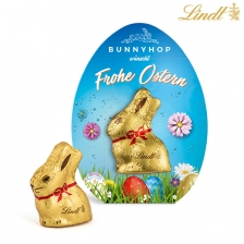 Lindt Mini-Goldhase in Osterei-Werbekartonage